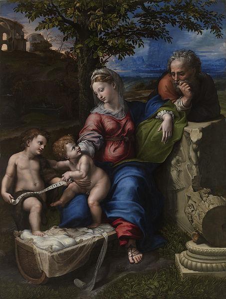 453px-Raphael_-_Holy_Family_below_the_Oak
